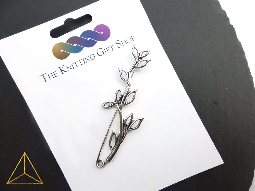 Shawl pin from The Knitting Gift Shop
